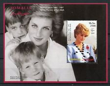 Somalia 2002 MNH Princess Diana Prince Harry William 1v S/S II Royalty Stamps