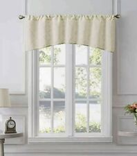 "Tiburon Sheer 50"" W x 19"" L Window Valance in Ivory"