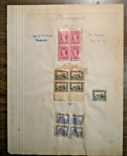 Three Newfoundland 4 blocks + 1 - #166 167 & 168 from 1929 - 13 stamps mounted