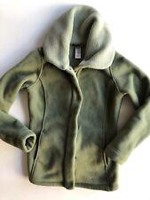Patagonia Womens Fleece Zip Up Jacket sz Small Green Zip up Sweater