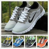 Fashion Unisex Shoes Pumps Trainers Lace Up Mesh Sports Running Casual