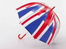 UNION JACK DOME UMBRELLA MEN LADIES WOMENS LONDON STYLE UK RED WHITE BLUE