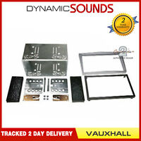 Car Double Din Stereo Facia Fascia Fitting Kit Silver For VAUXHALL Astra 04-2010