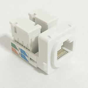 4 x CAT5e RJ45 8P8C Connector Mech Insert Jack Socket Clipsal Style Wall Plate