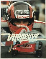 Villeneuve a Bio-Pictorial Book of Gilles Villeneuve by Allan de la Plante 1983