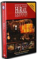 World Class HiRail Layouts Parts 1 2 3 & 4 FOUR Disc Box Set NEW