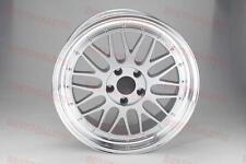 "18"" SILVER MACHINED LIP LM STYLE RIMS WHEELS FITS JDM STAGGERED 5X114"
