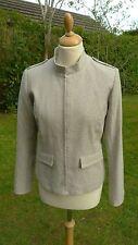 Toast Military style silk mix cropped jacket size 12                        B32