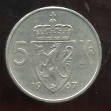 NORVEGE  5 kroner 1967