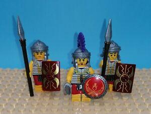 3 Römer Minifiguren mit LEGO ®Teilen