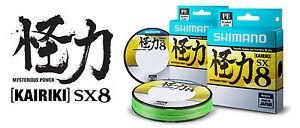 Shimano Kairiki SX8 Mantis Green 300m Braid Geflochtene Schnur Geflochten