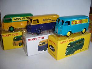 1 lot de 3 peugeot fourgons ref 25 v  dinky toys Atlas   1/43