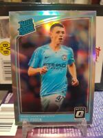 2018-19 Donruss Optic Phil Foden RATED ROOKIE SILVER HOLO PRIZM SP RC #179 MC