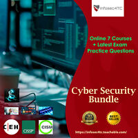 Cybersecurity course - Online 7 courses + Latest exam questions