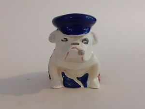 SUPERB, EARLY,  ROYAL DOULTON  BULLDOG  IN UNION JACK TRINITY CAP SMALL SIZE