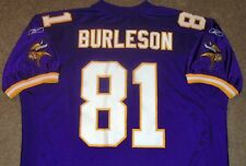 VTG AUTHENTIC NATE BURLESON MINNESOTA VIKINGS NFL ROOKIE REEBOK JERSEY 54 SEWN!