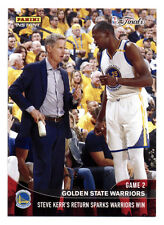 2016-17 PANINI INSTANT WARRIORS STEVE KERR RETURN SPARKS GAME 2 WIN W/DURANT QTY