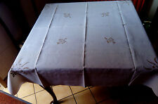 "Irish Linen Tablecloth, Beautiful, Vintage, Embroidered, 130cm (50"") Square"