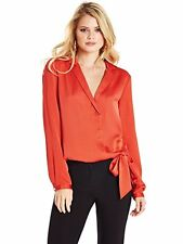 NWT GUESS BY MARCIANO ORANGE Carrie Tie Top SIZE S