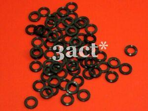 4pcs M6 Titanium / Ti Bolt Washer Black (Fit Brake, Stem, Bottle Cage, Shifter)