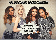 Little Mix Concert Tickets Seats Present Birthday Card Personalised A5