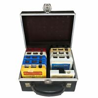 VINTAGE SET OF 10 8TRACK TAPES WITH CARRYING CASE