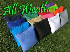 !FREE SHIPPING! 8 STORM ALL WEATHER CORNHOLE TOSS BAGS WITH STRING TOTE BAG