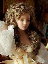 Dollhouse Miniature Artisan Porcelain Terry Davis ? Lady In Nightgown Doll 1:12