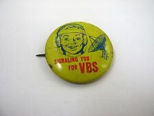 Vintage Collectible Pin: Signaling You for VBS Satellite Dish Radio Design