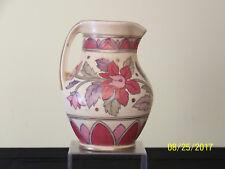 Art Deco c1930 Crown Ducal Art Pottery Floral Decor Pitcher