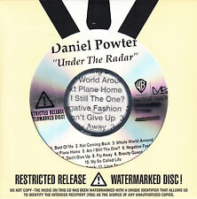 DANIEL POWTER Under The Radar US 12-track watermarked & numbered promo CD SEALED