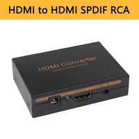 HDMI Audio Splitter Extractor Switcher 3x1 3.5mm Headphone Output 4K 3D 1080P