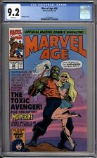 Marvel Age 98 CGC Graded 9.2 NM- Newsstand 1st Toxic Avenger Marvel Comics 1991