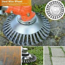 Lawn Grass Strimmer Head Trimmer Brush Solid Steel Wire Wheel Garden Weed