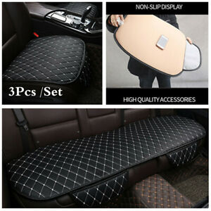 3Pcs /Set PU Leather 5-seat Car Seat Cover Breathable Pad for Auto Chair Cushion