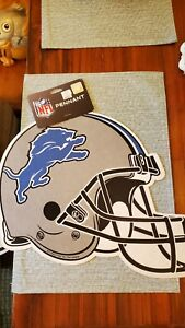 NFL Team Felt Helmet Style Pennants Size 13x16 Detroit Lions New Garage Cave