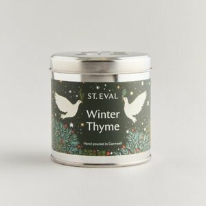 St Eval Candle Company Scented Tin Candle Christmas Winter Thyme