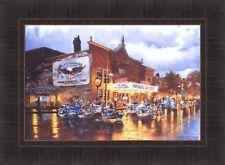 AMERICAN CLASSICS by Dave Barnhouse 17x23 FRAMED PRINT Harley Davidson Bikes HCD