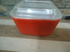 VINTAGE PYREX RED REFRIGERATOR DISH-SMALL VERSION-DISH-1960'S-COUNTRY DECOR