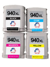4 PK for HP 940XL BCMY Ink Cartridges for Officejet Pro 8000 8500a 8500a Plus