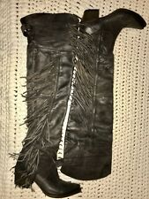 Ash Austonian Boots Butch 9/39.5 Fringe Western Over The Knee Free People Cowboy