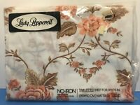 NOS Lady Pepperell Floral Pattern Muslin Twin Fitted Flat Sheet Vintage USA Made