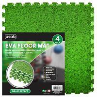 Interlocking Grass Effect Eva Mat Floor Tiles Soft Foam Protection Kid Play Room