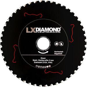 LXDIAMOND Hartmetall Sägeblatt 255mm x 30,0mm für Eisen Stahl Edelstahl V2A V4A