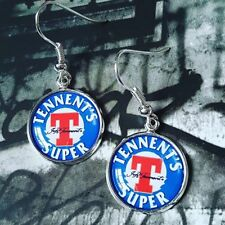 Unique TENNENTS SUPER EARRINGS scotland SCOTTISH beer LAGER drink PUB strong