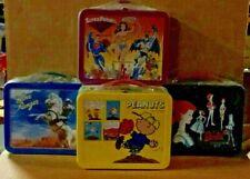 Lot Of 4x Hallmark Charlie Brown Super Friends Barbie Lone Ranger LunchBox Vtg