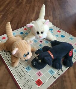 Vtg 1985 Pound Purries Tonka Plush Tabby Cats Pound Puppies Lot of 3