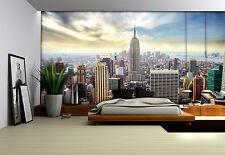 Girls room giant Wall Mural photo wallpaper 368x254cm New York blue skyline