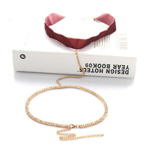 Sexy diamond body chain