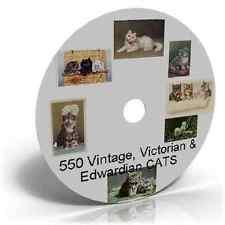 550 Vintage, Victorian & Edwardian CATS Art & Craft CD